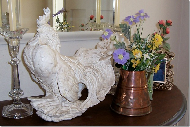 white shabby rooster 2