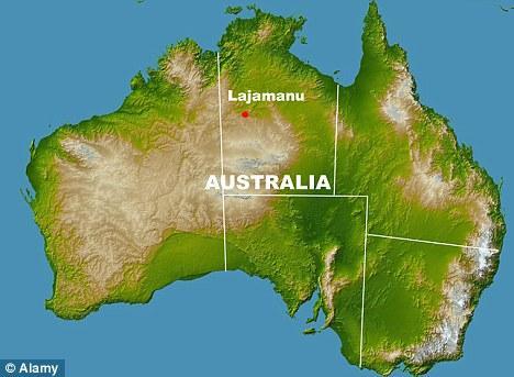 Kota Lajamanu di peta Australia