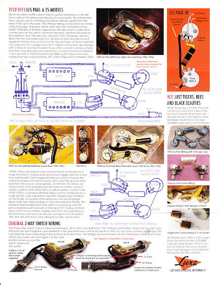 bumblebee luxe radio capacitors wiring diagram Vintage Les Paul Wiring Diagram