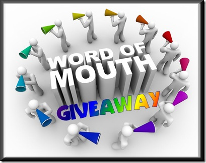 word of mouth giveaway