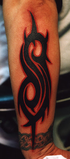I have a Slipknot tattoo. Ha. By all means I should get a Rammstein one and