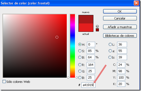 Diferentes nomenclaturas de un color