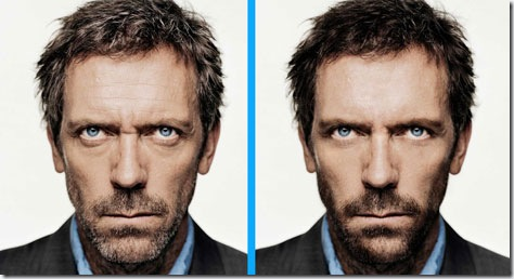 House rejuvenecido por medio de retoque fotográfico con Photoshop: antes y después.