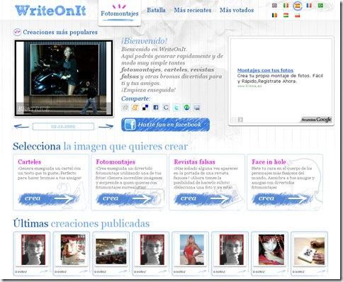 Página inicial de WriteOnIt.org
