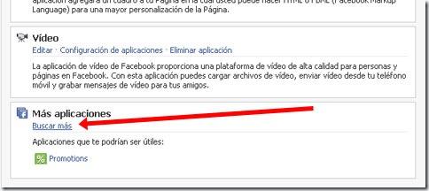 """Ir a apartado """"buscar más aplicaciones"""" de nuestra página de Facebook"""