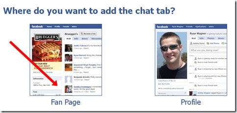 Crear chat en Facebook, elegir una de las dos opciones posibles