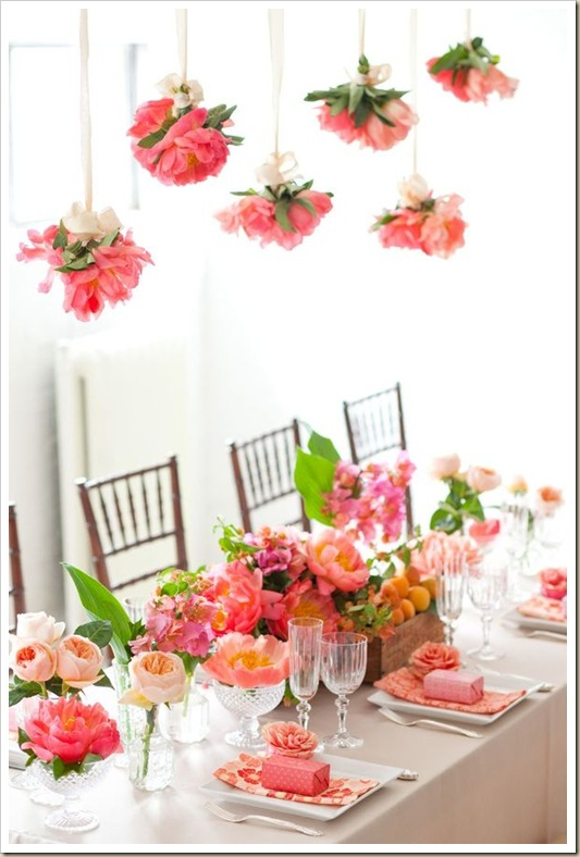 Coral Charm Peony Party Inspiration 1