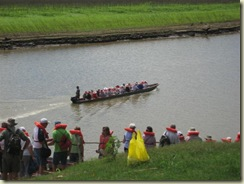 Canoe Heading out to Village (Small)