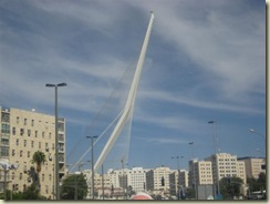 Jerusalem Harp Bridge - Same architect as spire (Small)