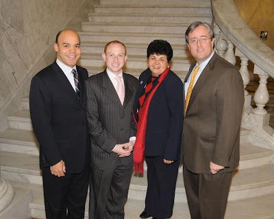 Del. Carr (left) with D18 colleagues Madaleno, Gutierrez & Waldstreicher