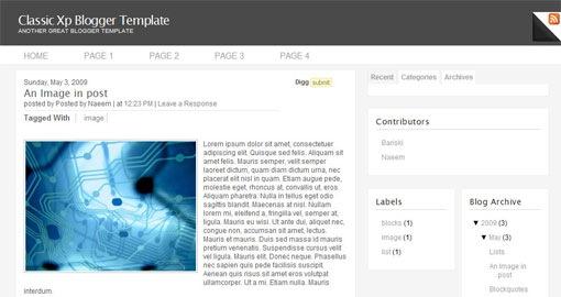 free-premium-blogger-xml-template-classic-xp-2-columns
