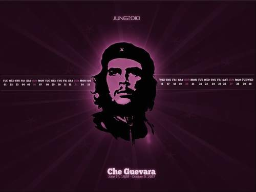 Hot-desktop-wallpaper-calendar-background-June-2010-Che-Guevara