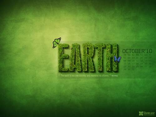 Cool-hd-natural-green-desktop-wallpaper-calendar-October-2010