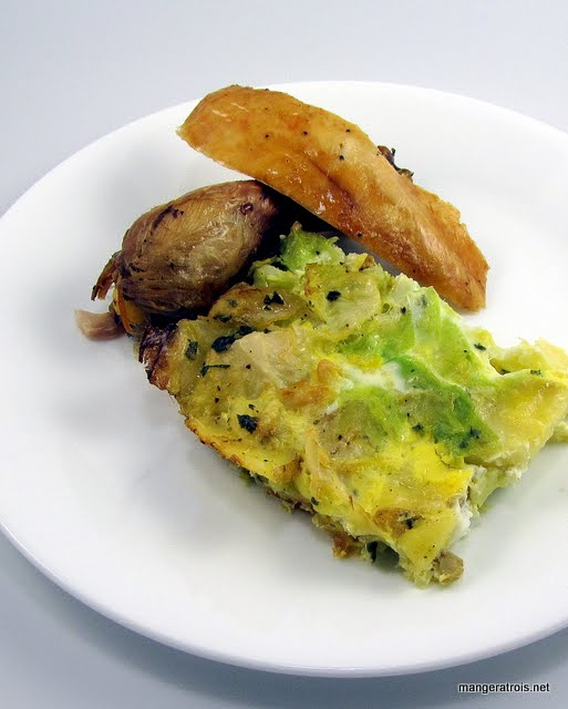 Cabbage and Potato Gratin with Sage