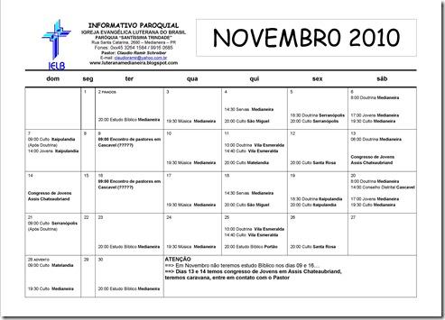 calendario novembro