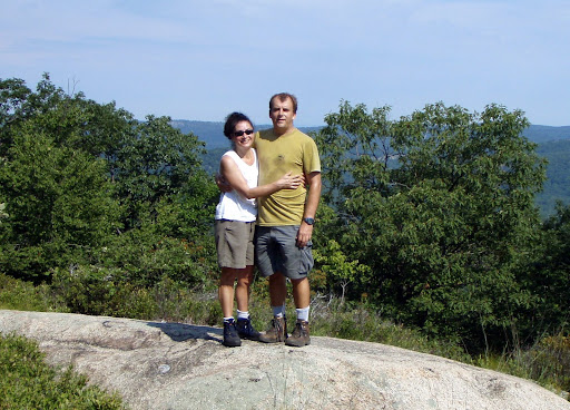 Helen & Steve on the crest of Bear Mountain