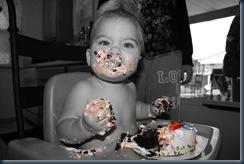 lucas birfday cake bw