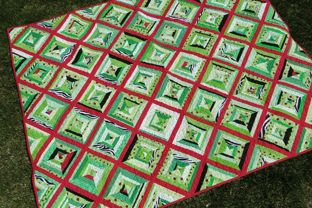 Foundation pieced string quilt
