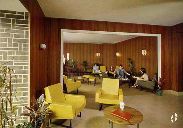 Cartes Postales Pop et  Kitsch des années 50, 70 et 70 HOTEL VANNIER 41 - Saint-Laurent-des-Eaux Tél. 37 et 38 à Nouan-sur-Loire Le Salon