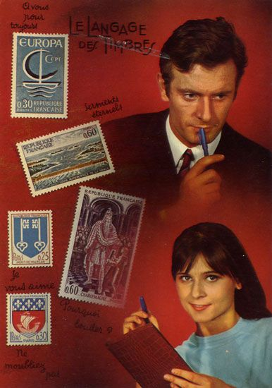 Cartes Postales Pop et  Kitsch des années 50, 70 et 70 - Pop and kitsch vintage postcards from the fifties, the sixties and the seventies : Couples, lettres d'amour