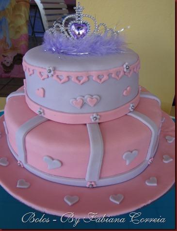 bolo cake  princesas