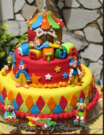bolo cake palhaço circo III (2)
