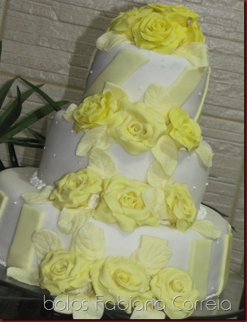 bolo casamento, cake wedding, rosas amarelas