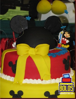 bolo mickey, cake mickey, bolos decorados, bolos fabiana correia, boloa maceió-al 2