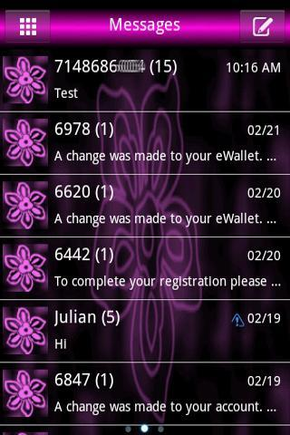 Pink Flower Go Sms Pro Theme
