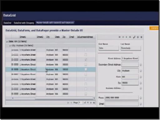 DataGrid, DataForm and DataPager