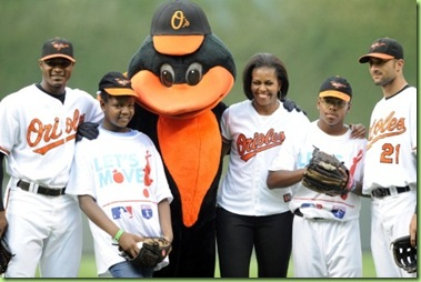 first-lady-michelle-obama-attends-baseball-game-baltimore