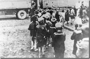 jewish children enroute to nazi death camp