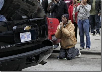 man begging to obama