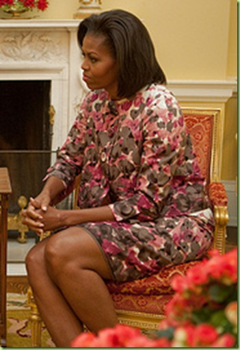 First Lady Michelle Obama and Queen Silvia of Sweden meet in the Yellow Oval Room of the White House, Oct. 23, 2009. (Official White House Photo by Samantha Appleton)