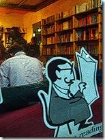 Firenze, San Frediano -libreria la Cité e caffè Hemingway-