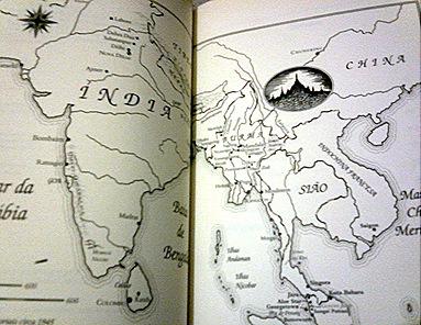Mapa que acompanha o livro