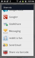 Screenshot of GtalkShare