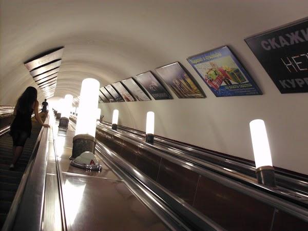 Imagini Rusia: metrou Moscova
