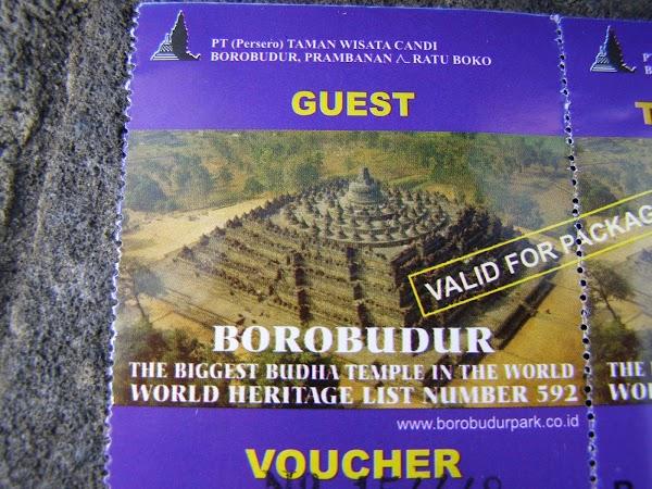 Imagini Indonezia: Borobudur bilet