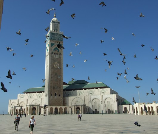 Obiective turistice Maroc: Casablanca - moscheea.JPG