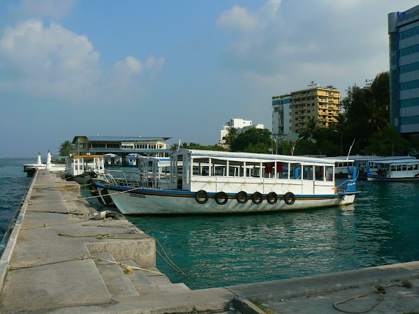 Imagini Maldive: portul din oras.JPG
