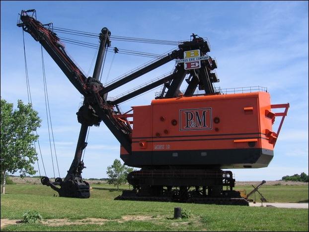 dragline machine