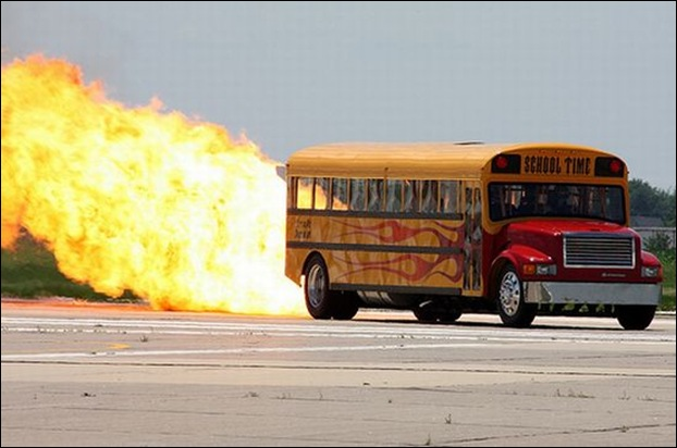 Jet-Powered School Bus