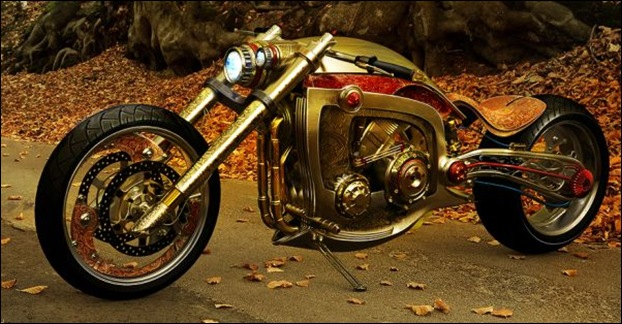 Mikael Lugnegard's 'Golden Motorcycle'