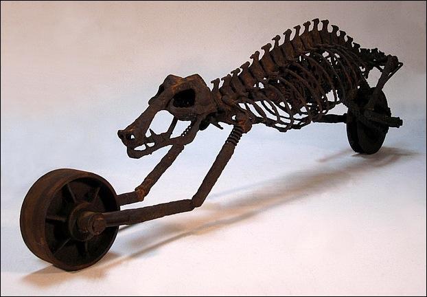 Dinosaur Motorcycle Sculptures 3