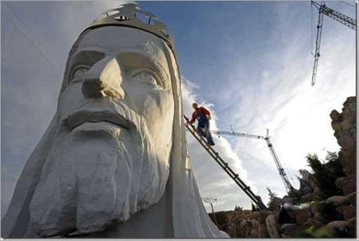 The tallest statue of Jesus in Poland
