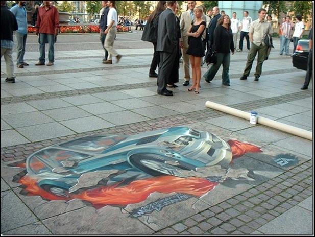Street Art 3D cars 07