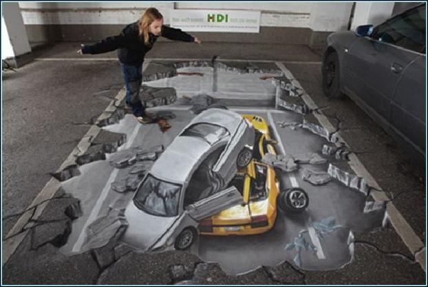 Street Art 3D cars 05