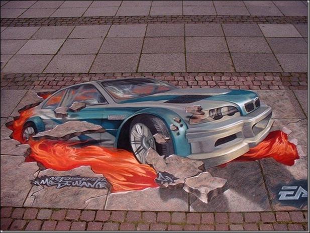 Street Art 3D cars 06