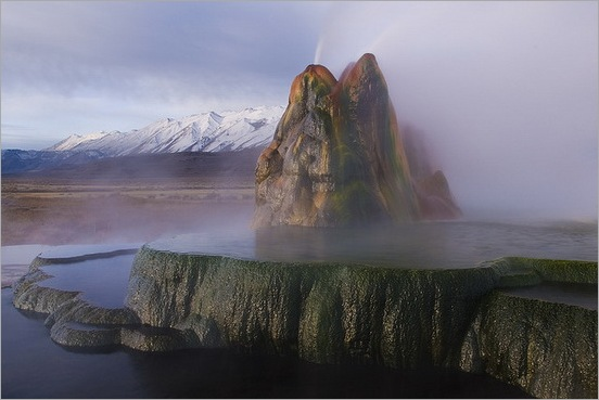Fly Geyser in Black Rock Desert 07